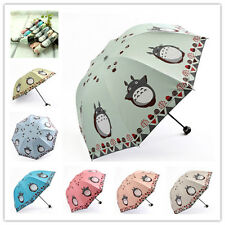 fashion gifts cartoon Totoro girls folding sun rain anti-uv umbrella sunscreen