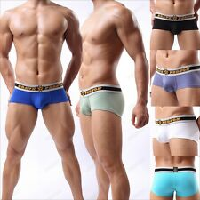 Hot Brand New Men's Cotton Boxer Briefs Shorts Underwear Size S M L 6 Color