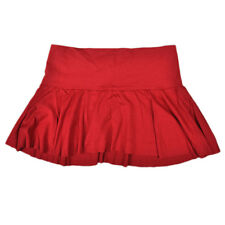 Hustler Clothing Brand Spandex Flouncy Flared Mini Skirt Womens Red Ladies