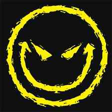 EVIL SMILEY FACE Mens T-Shirt Tee Grin Gothic Cotton New Black Funny Novelty