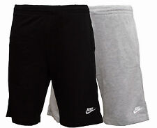 New Mens Nike Cotton Shorts Grey Black Long Sports Gym Training Knee Length