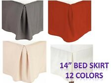 "Pleated Bed Skirts 14"" Drop Egyptian Solid Bed skirt Full,Queen,King,Cal King"
