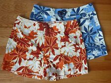 *NWT $49 Patagonia Wavefarer Board Shorts Women's Blue Red Floral 6 8 10 12 14