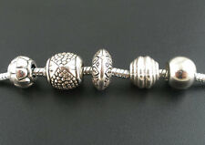 Wholesale Lots Mixed Silver Tone Acrylic Spacers Beads Fit Charm Bracelet