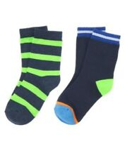 GYMBOREE STRIPES IN SPACE STRIPED 2-pair OF BOYS SOCKS S M L NWT