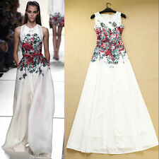 Women Vintage RunWay Floral Printed Evening Party Maxi Long Boho Dress 2014 New