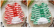 New baby girls Long Sleeve Cotton outerwear  bowknot size:0-36Months
