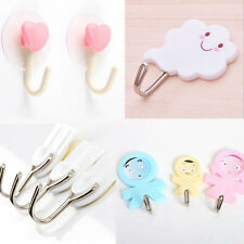 New Self Adhesive Hooks Stick On Wall Hanging Door Bathroom Kitchen