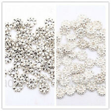 300Pcs 4mm Daisy Shaped Tibetan Silver Spacer Bead FindingS For Jewel Craft