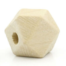 """Wholesale Lots Wood Spacer Beads Polygon Natural 13mmx10mm(4/8""""x3/8"""")"""