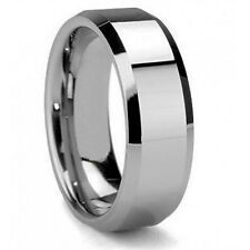 Cool Men's 8mm Tungsten Carbide Wedding Band Ring Size 9 10 11 12 13 Us Seller