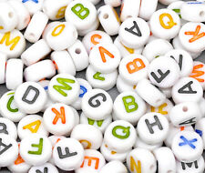 Wholesale Lots Mixed Alphabet/Letter Acrylic Spacer Beads 7mm