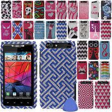 Hard Protector BLING Case Cover For Motorola Droid RAZR XT912 Phone + Tool