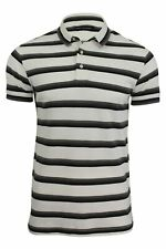 FCUK/ French Connection Blue Striped Polo T-Shirt