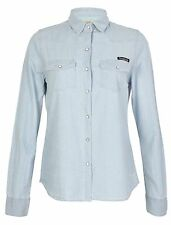 Womens Shirt By Tokyo Laundry Denim Chambray 'Holly' Cotton Roll Up Sleeve