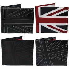 Mens Quality Leather Union Jack Mod Retro Wallet with Coin Pocket - Gift Boxed