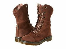 Dr. Martens Women`s Triumph Aimilie Toe Cap Brown Burnished Boot US 8 EU 39 UK 6