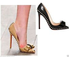 2014 New Bowknot Pointed Toe Shoes With Rivets Women Pumps Sexy Party High Heels