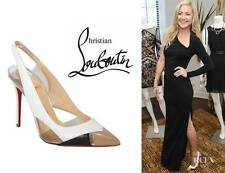 Christian Louboutin AIR CHANCE Leather Patent PVC Sling Heels Sandals Shoes $845