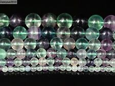Natural Rainbow Fluorite Gemstone Round Beads 15.5'' 4mm 6mm 8mm 10mm 12mm 14mm