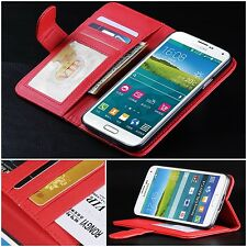 PU Leather Card Slots Wallet Stand Flip Case Cover For Samsung Galaxy S5 V i9600
