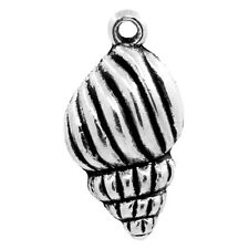 Wholesale DIY Jewelry Charm Pendants Whelk Animal 25mmx13mm