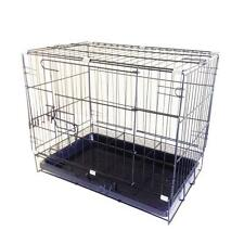 Foldable Wire Metal Folding Pet Cage Crate Dog Cage Kennel Animal Carrier 11970