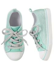 Gymboree CENTER STAGE Sweet Mint Green Glitter Sneakers 9 10 11 12 1 2 NEW