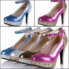 Fashion Squines Ladies' Shoes Luxury High Heels Platform Party Pump US All Sizes