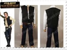 Star Wars A New Hope ANH Smuggler Han Solo Vest+Shirt+Pants Set Cosplay Costume