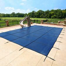 Swimming Pool Safety Covers - Arctic Armor 12-Year Mesh, Concrete Deck Hardware