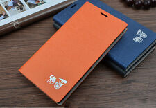 Luxury Flip Wood Texture PU Leather  Phone Cover Cas For Nokia Lumia 1520