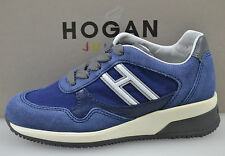 HOGAN ELECTIVE SCARPA SNEAKER JUNIOR SHOES BLU INDACO ART. HXC1580A4819E30A35