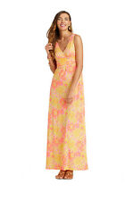 Lilly Pulitzer Resort White sunkissed Sloane Empire Waist Maxi Long Dress XS New