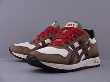 ASICS GEL GT II 2 OLIVE DARK BROWN BLACK RED H302N-8628 SAGA GT RONNIE FIEG