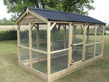 LARGE WALK IN RUN/ENCLOSURE FOR CHICKENS,BIRDS,CATS,DOGS,FERRETS,RABBITS,PIGEON