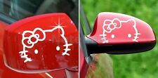 F8 2 X Hello Kitty Face Car Truck Motor Auto Rear View Logo Mirror Decal Sticker