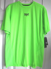 Mens Everlast EverDri Performance T-Shirt Mesh Back-Green Gecko--New