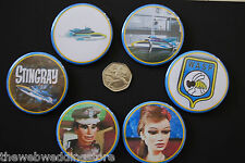 Badges Emission TV STINGRAY WASP - Jerry & Silvia Anderson - Troy - 1964-1965