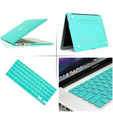 """Tfany Blue Rubberized case keyboard cover Macbook Pro Air Retina 11 13 15""""inch"""