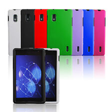 Multicolor Rubberized Hard Case Snap On Phone Cover Skin For LG Optimus G E970