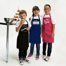 Personalised Childrens Colour Apron Fun Chef  Kitchen Cooking BBq  Quality Apron