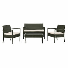 Garden Furniture Set Table and Chair Rattan Patio New Black Brown Conservatory