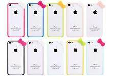 BUUS Cute Hello Kitty Bowknot Bow Bumper Frame Cover Skin Case for iPhone 5C