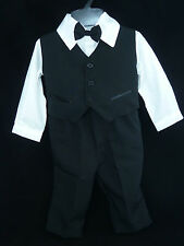 Baby Boys Formal Occasion Wedding Christening Bow Tie Suit Age 0, 1, 2, 3 Years