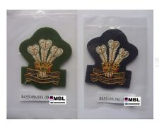 ROYAL WELSH REGIMENT NEW MOD ISSUE WO1 / OFFICER BULLION WIRE BERET & CAP BADGE