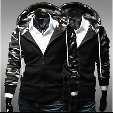 Fashion New Mens Camouflage Slim Fit Casual Zipper Designed Hoodies Jacket Coat