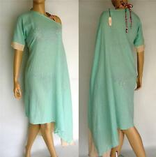 $69 NWT VICTORIAS SECRET 100% Cotton Kaftan Maxi Cover Up S M L - Aqua