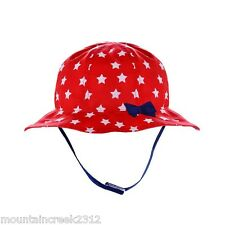 NWT JUMPING BEANS Little Girls STAR Print Sun Hat Red 2T-4T NEW