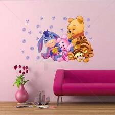 Huge POOH WINNIE Decal Quote Vinyl Baby Words WALL STICKER Removable Kids Decals